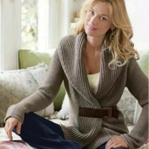 SOFT SURROUNDINGS Country Weekend Belted Sweater